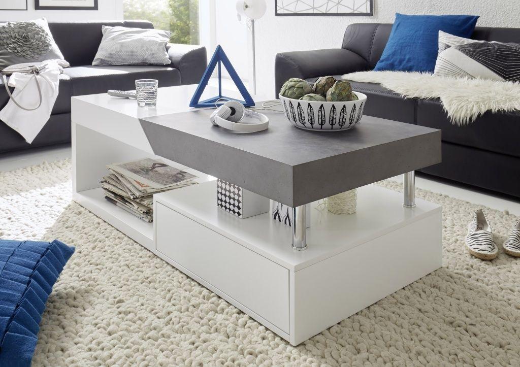 Hope Table Basse Rectangulaire Blanc Gris Acheter En Ligne Pas Chere Table De Salon Table Basse Table Basse Design