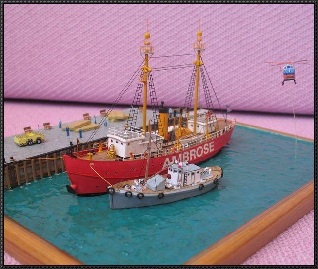Lightship Ambrose Free Ship Paper Model Download Paper Models Paper Crafts Card Model