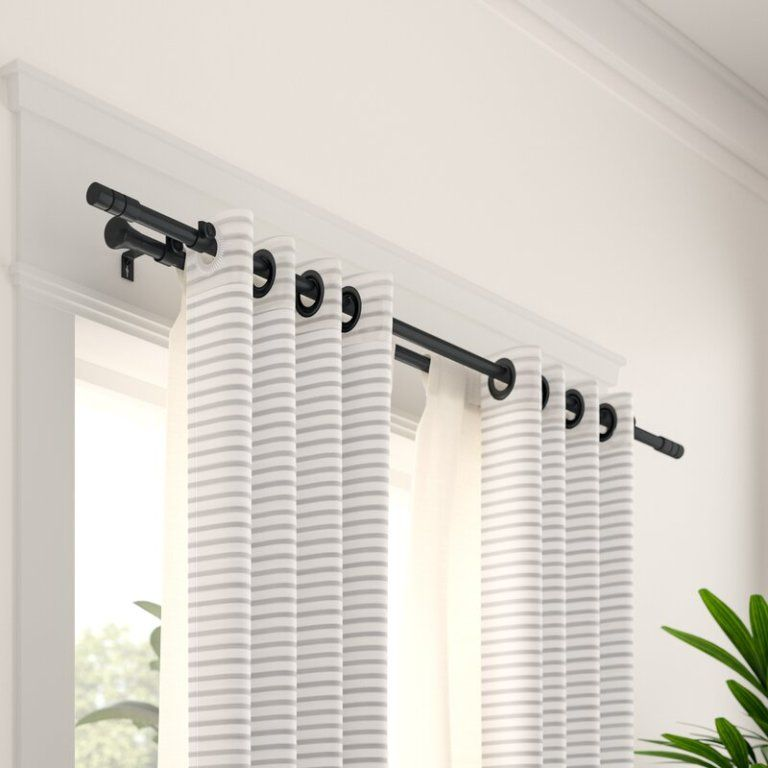 Double Rod Curtains Curtain Rods, How To Select Curtain Rod Size