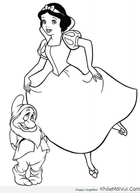 Loving Princess Snow White Disney Coloring Page Pages Sheets Cartoon Free Online And