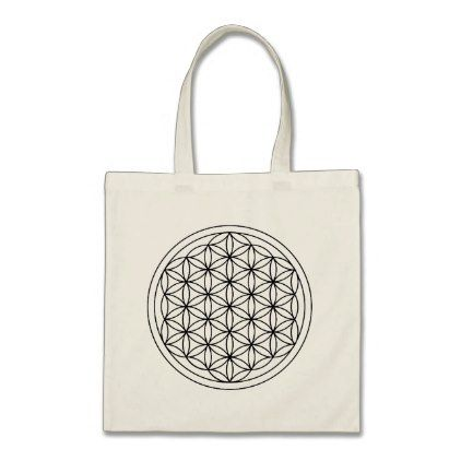 Flower Of Life Symbol Tote Bag Minimal Gifts Style Template Diy Unique Personalize Design