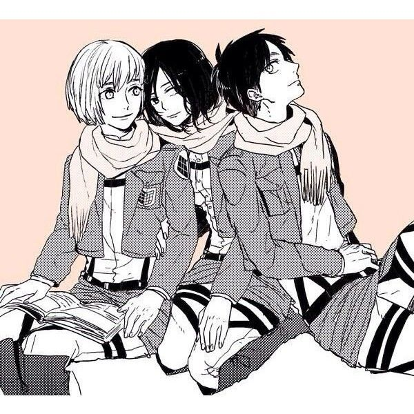 Pin by B S on Eren x Mikasa x Armin | Pinterest ❤ liked on Polyvore featuring anime and snk