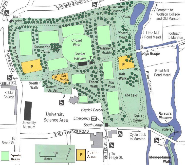 Map Oxford University Parks Old Frontier Pinterest Park and