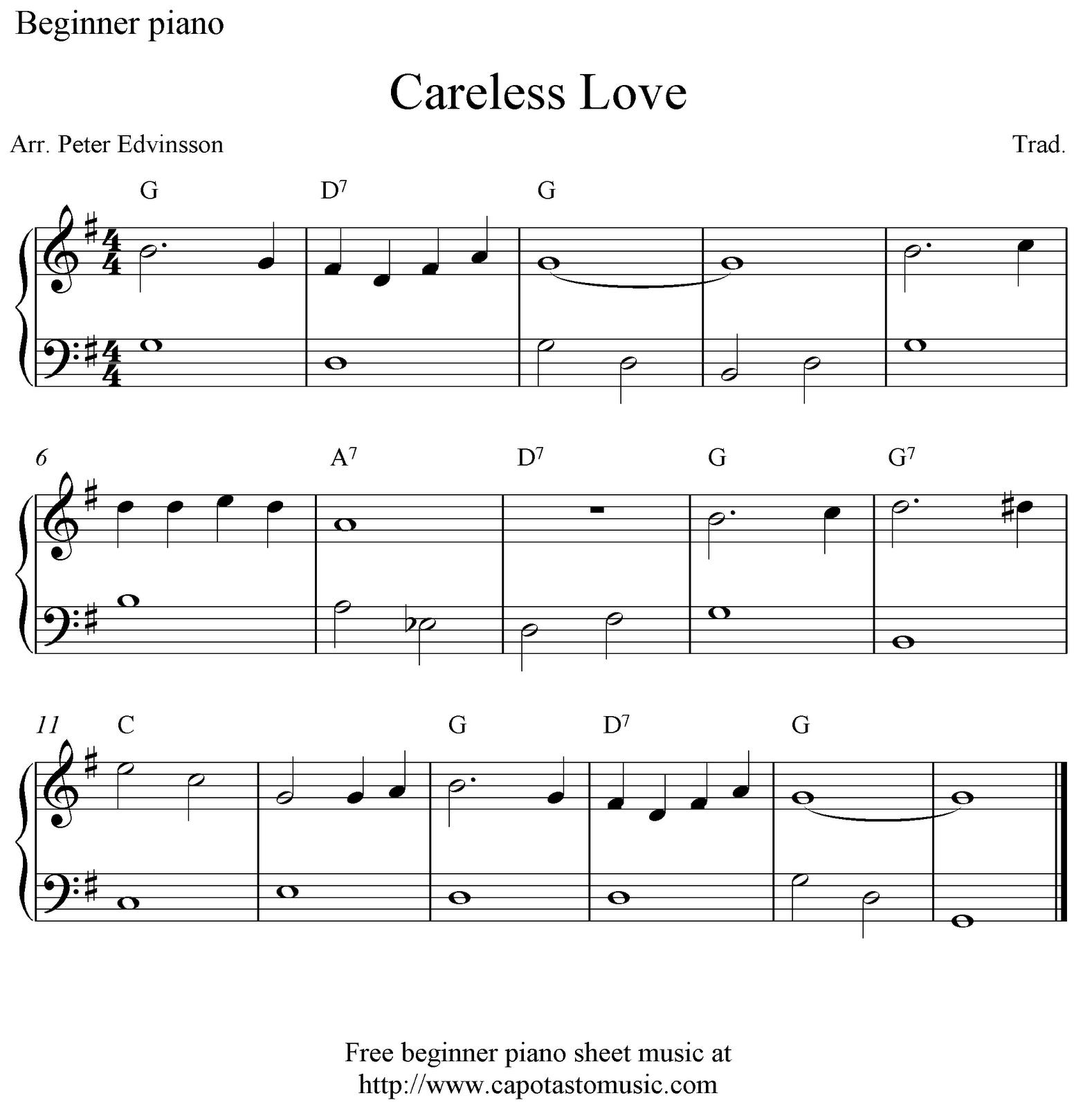 Free Printable Sheet Music For Piano: Capotastomusic: Free Sheet Music Scores... Love This Blog