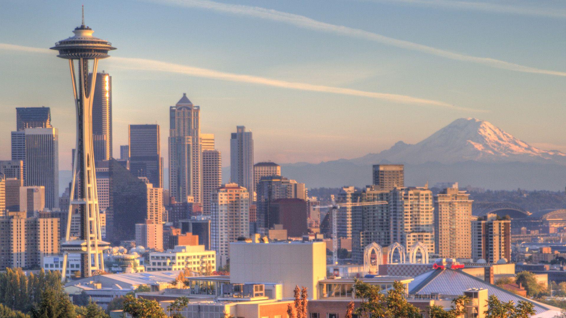 Cityscape Of Seattle Cityscape Seattle Seattle Skyline