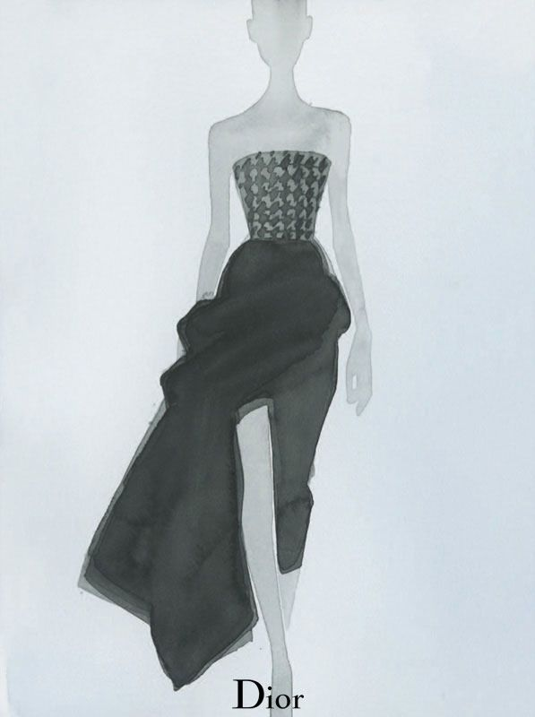 dior illustrations2 Dior Illustrated by Mats Gustafson