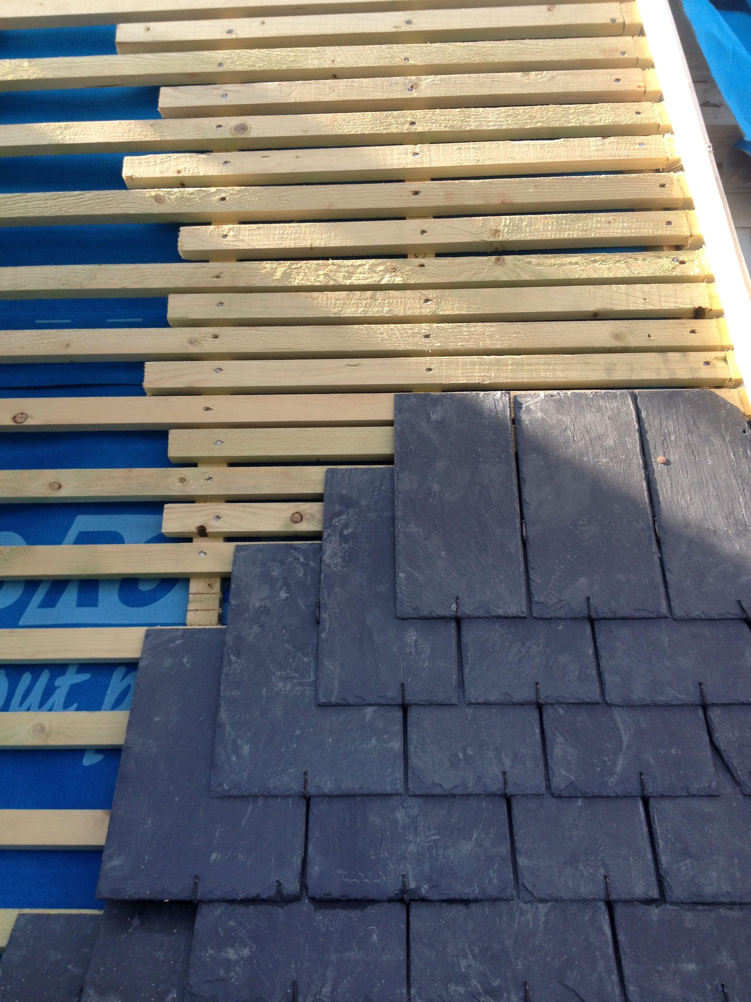 Comment Poser Des Ardoises remplissage sur arêtiers   toiture ardoise, construction en