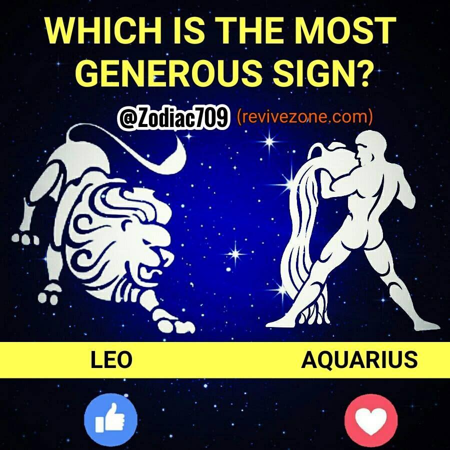 most generous zodiac sign? leo, aquarius | Astrology | Zodiac signs