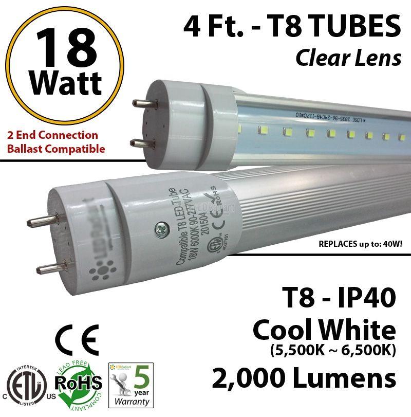 Led T8 120 Cm Fluorescent 18w Ballast Compatible Dlc Led Work Light Led Flood T8 Led