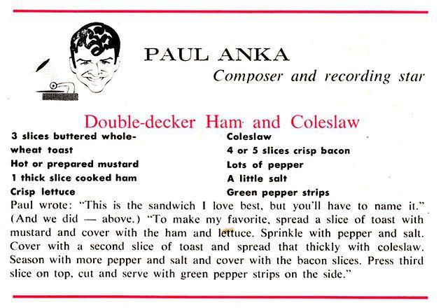 Paul Anka How to cook ham, Vintage recipes, Stuffed