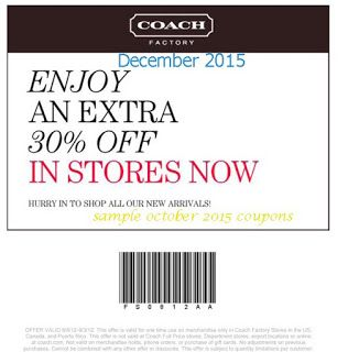 Printable Coupons: Coach Coupons
