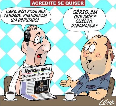 Pela 1ª vez desde 1988, deputado condenado é preso em Brasília