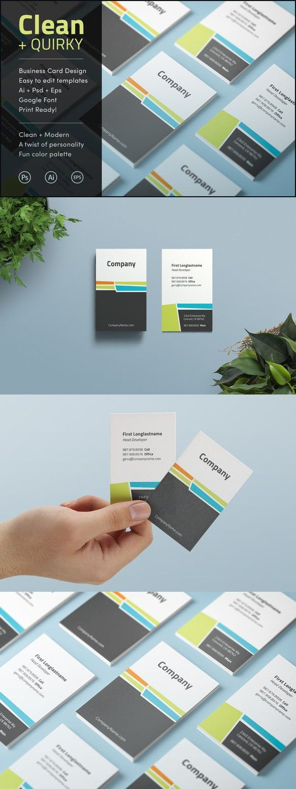 Clean quirky business card design business card templates clean quirky business card design reheart Gallery