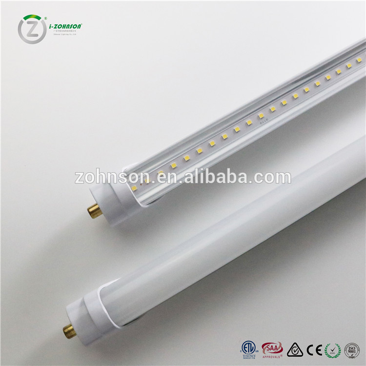 8ft Led Bulbs Light 96 T8 Fa8 Single Pin Led Tube Light Clear Frosted Cover 6500k Replace Fluorescent Bulb Li In 2020 Led Tubes Led Fluorescent Tube Led Fluorescent