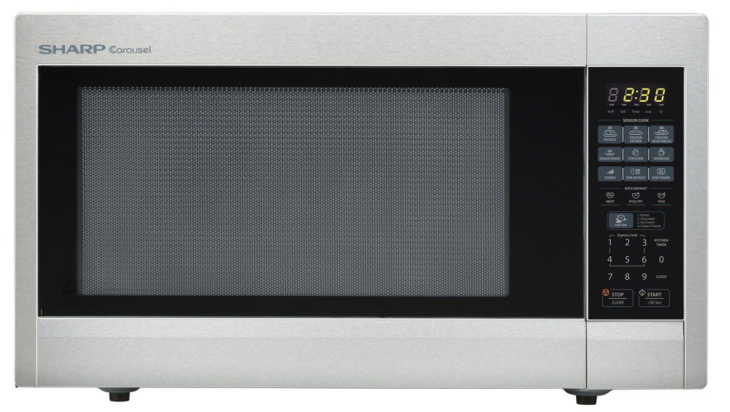 Sharp Countertop Microwave Oven Zr651zs 2 2 Cu Ft 1200w