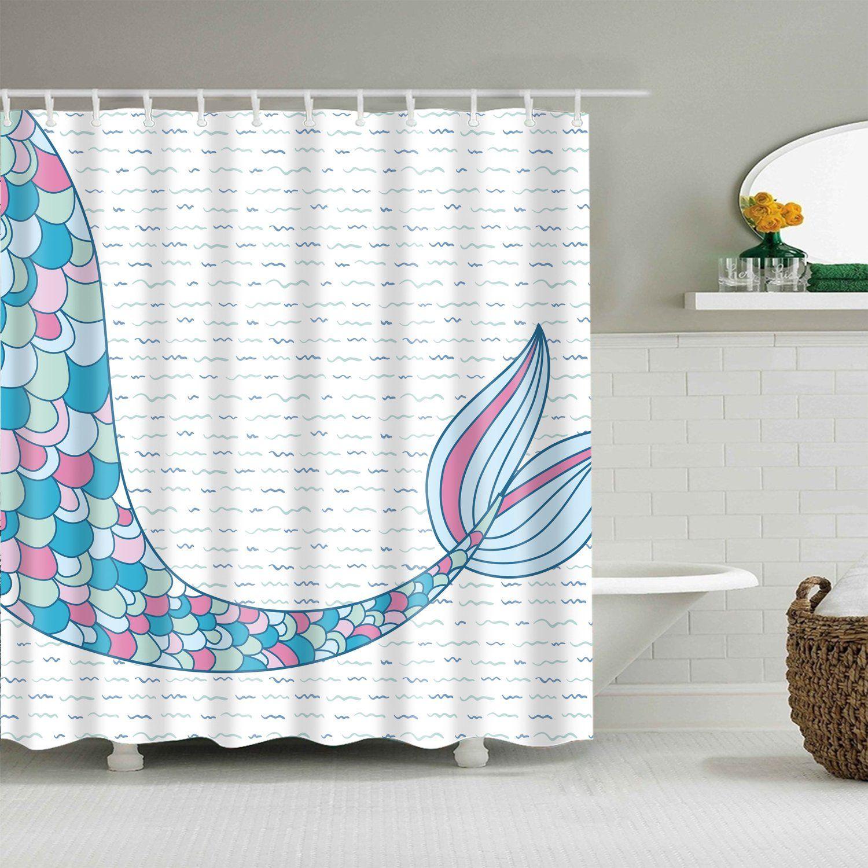 Tale Of A Mermaid Tail Shower Curtain Beach Shower Curtains