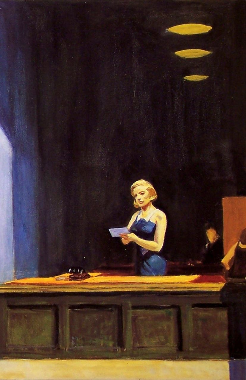 "Extrêmement New York Office"" (detail), 1962, Edward Hopper. 