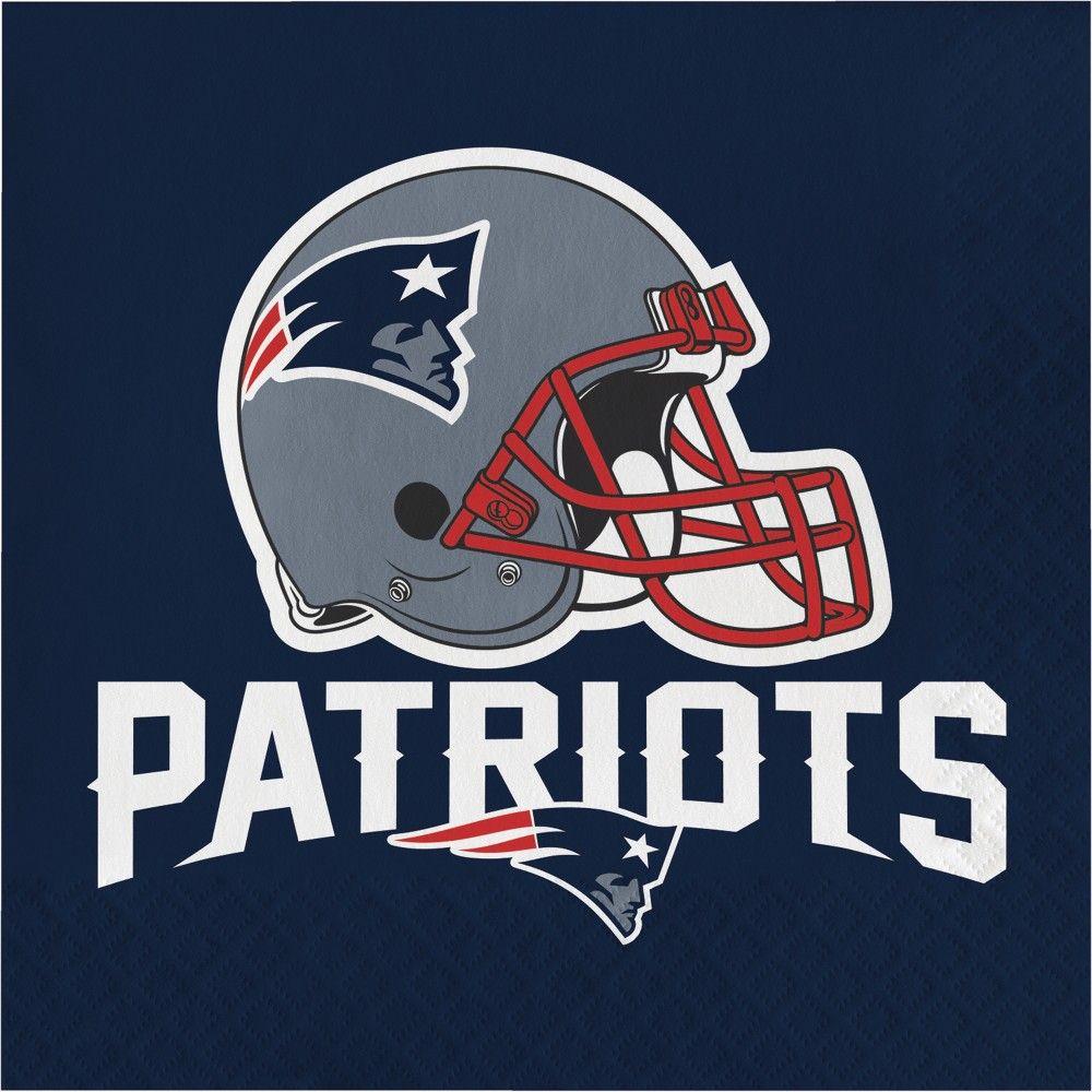 Nfl Multi Disposable Napkins New England Patriots Helmet New England Patriots Logo Nfl New England Patriots