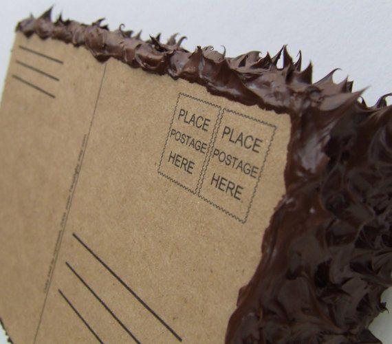 Cake postcard great idea Wants and Needs Pinterest Birthday