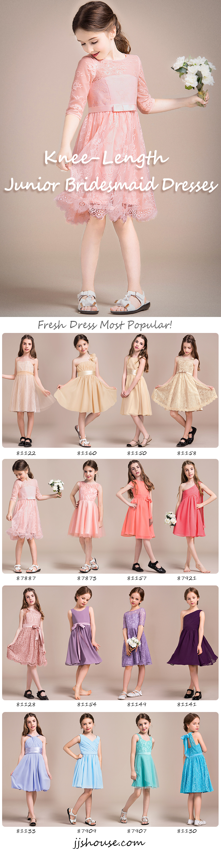 Knee-Length Junior Bridesmaid Dresses Fresh Dresses Most Popular ...