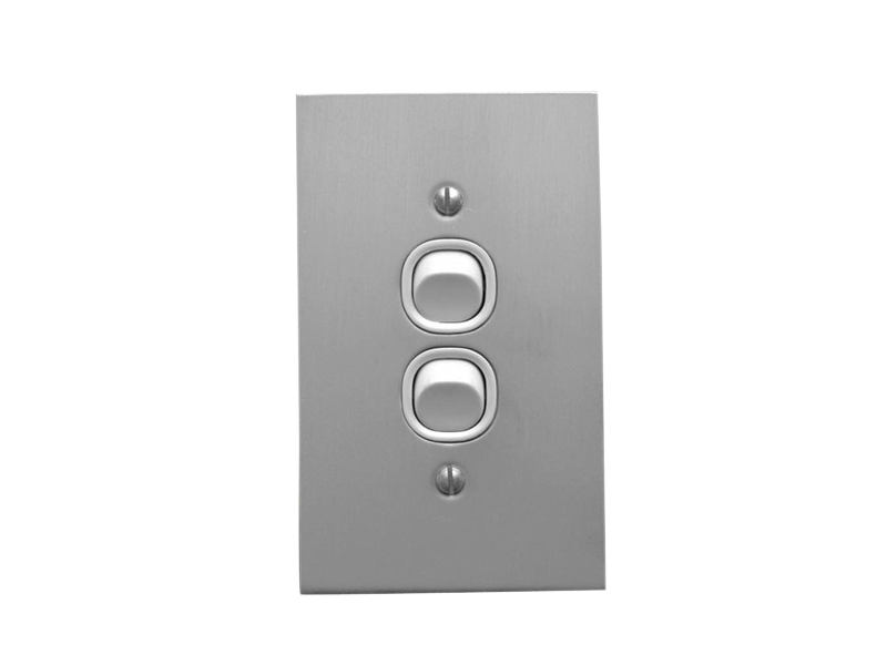 Clipsal Ab32va Flush Switch 2 Gang 250vac 10a Metal Plate Range A Style Standard Vertical White Electric Electrical Switches Switches Electricity
