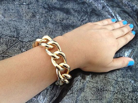 Cashmere Chunky Single Gold Chain Link by seejewelryonline on Etsy