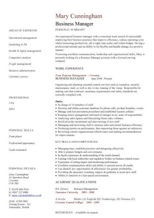Business Management Resume Samples Glamorous Resume Examples Business Management #business #examples #management .