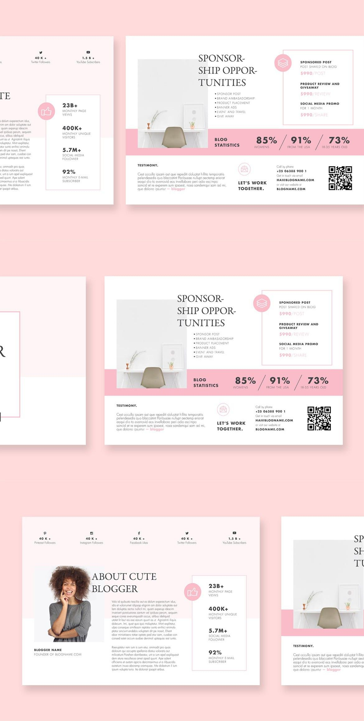 Blogger Proposal Template Scene Generators Pinterest Proposal