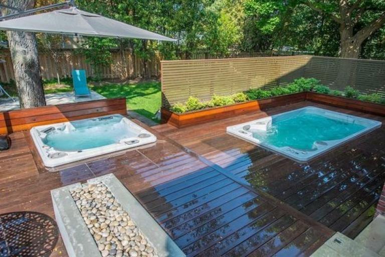 Admirable Inground Hot Tub Ideas Pool Hot Tub Inground Hot Tub Hot Tub Backyard