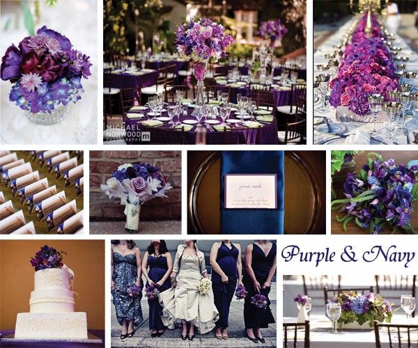 Navy Purple My Wedding Colors