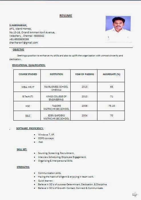 como realizar un curriculum Sample Template example ofExcellent - resume format for mba