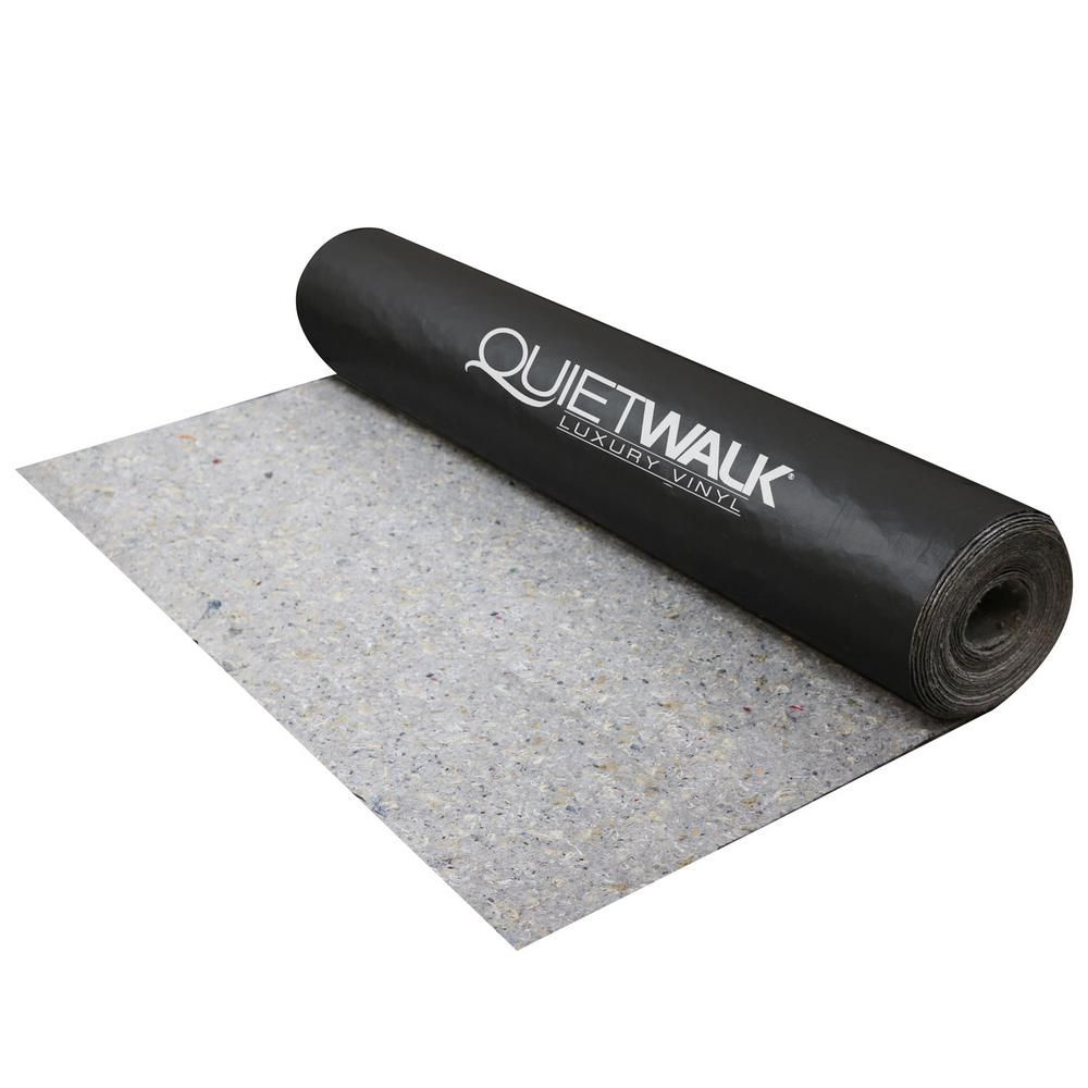 Quietwalk 100 Sq Ft X 3 Ft X 33 34 Ft X 1 16 In Acoustical Underlayment With Vapor Barrier For Luxury Vinyl Flooring Qwlv100 The Home Depot Vinyl Plank Luxury Vinyl Plank Flooring Luxury Vinyl