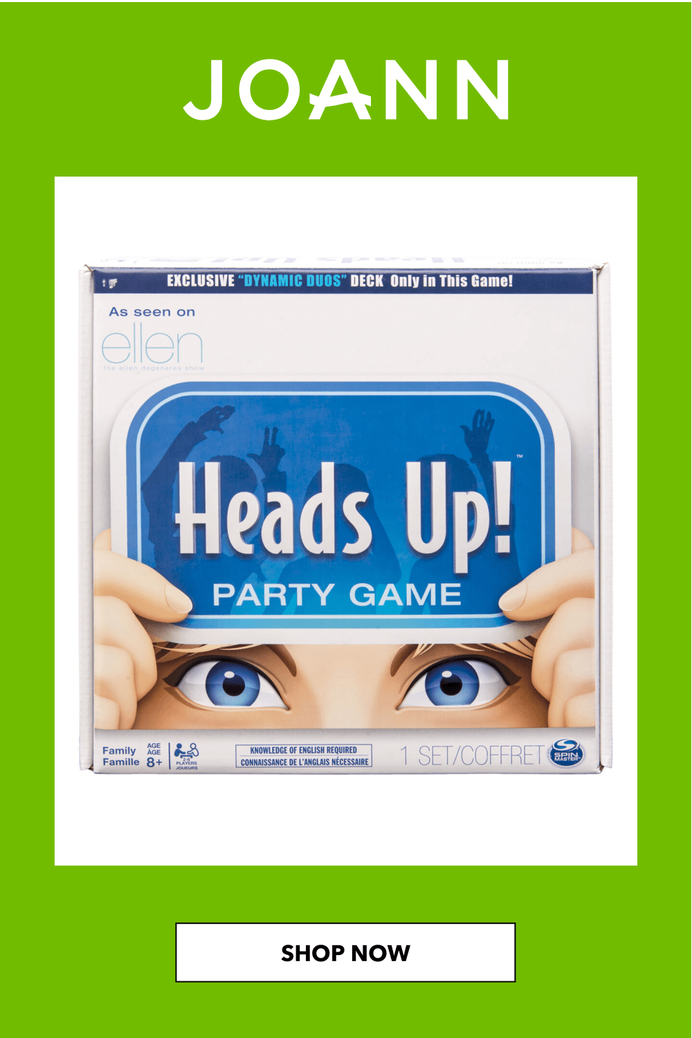 Continuum Games Heads Up Party Game Joann In 2020 Party Games Guess The Word Hidden Games