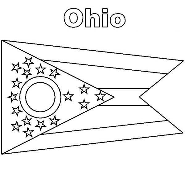 Ohio State Flag Coloring Page Color Luna Ohio State Flag Flag Coloring Pages Ohio Flag