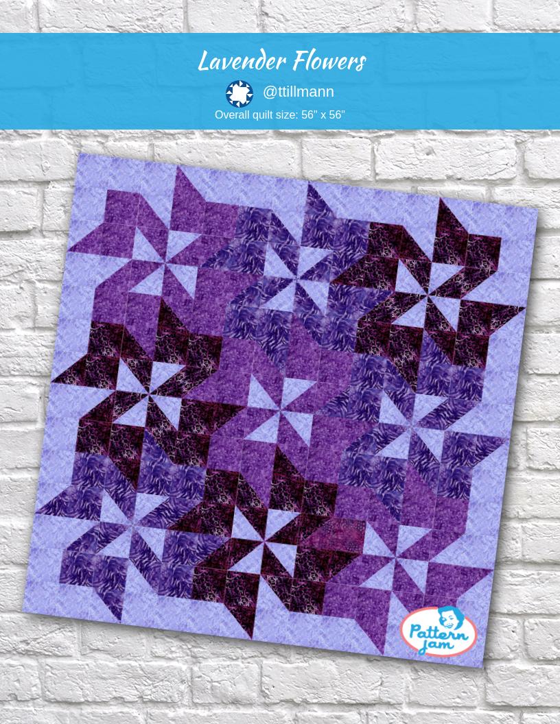 Lavender Flowers Quilts Quilting Designs Flower Quilt