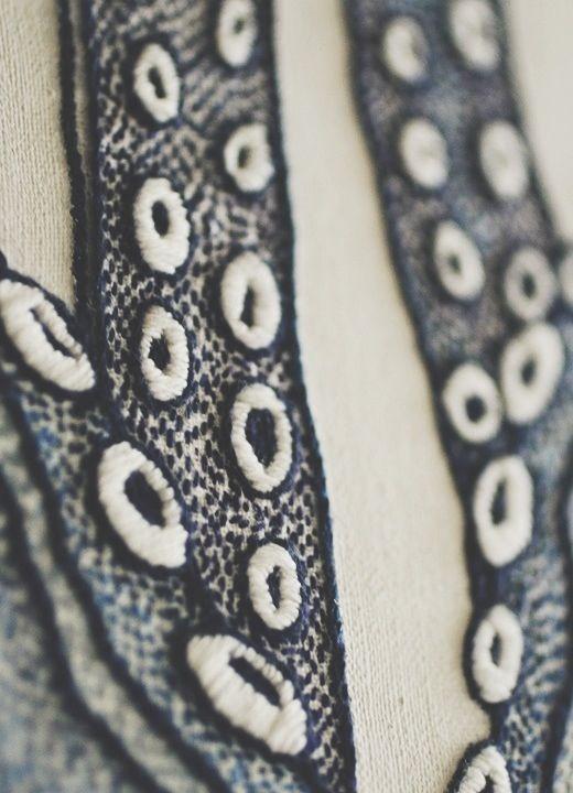Octopus | Yumiko higuchi embroidery yumikohiguchi.com