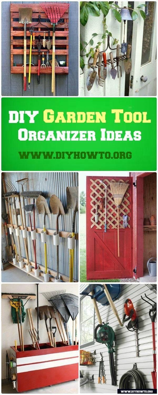 DIY Garden Tool Organizer Storage Ideas Projects | Gardening tools ...