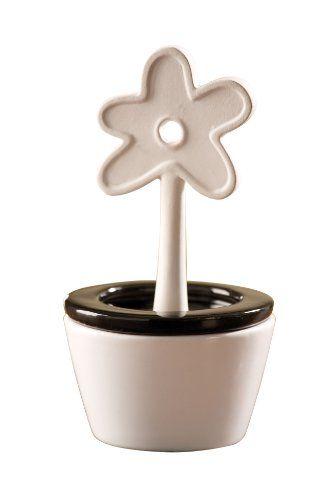 Wenko 52589100 Bumentopf – Humidificador cónico de cerámica -  http://tienda.casuarios.com/wenko-52589100-bumentopf-humidificador-conico-de-ceramica-o-85-x-16-cm-colores-blanco-y-negro/