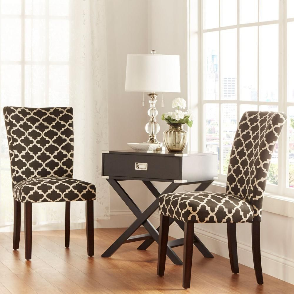 16++ Homepop parsons dining chair black plaid set of 2 Inspiration