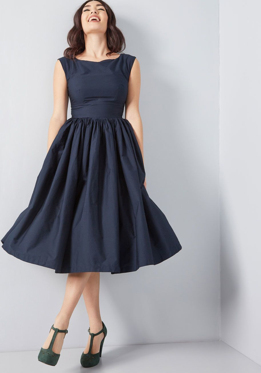 Fabulous Fit And Flare Dress With Pockets Flare Dress Fit And Flare Dress Evening Dress Patterns
