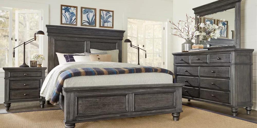 Lake Town Gray 7 Pc King Panel Bedroom King Size Bedroom Furniture Sets King Bedroom Sets King Size Bedroom Furniture