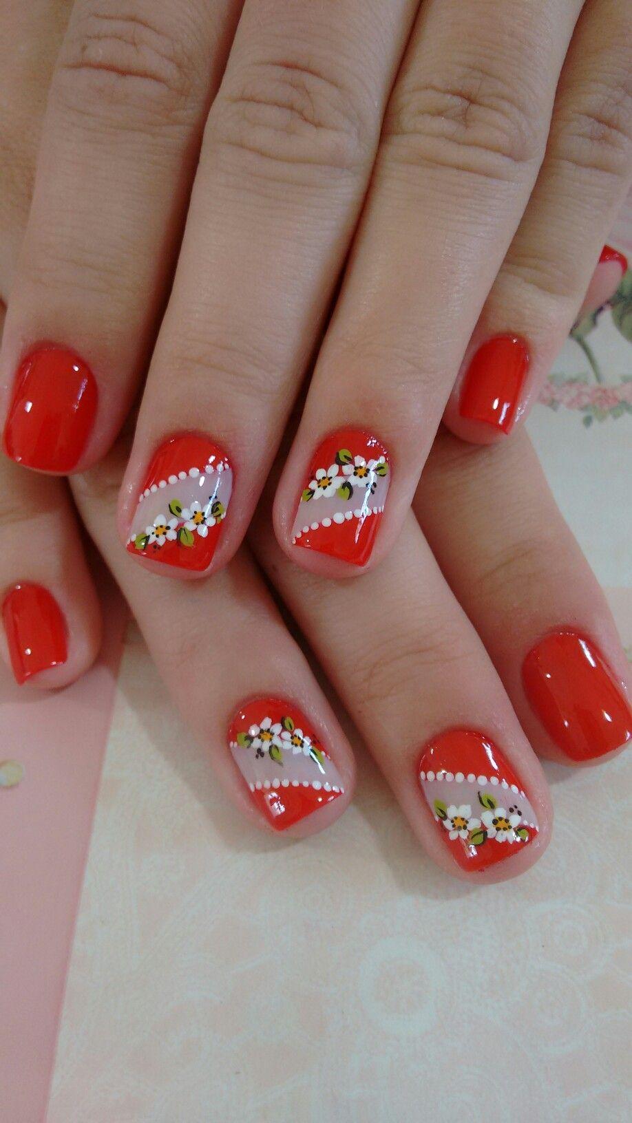 Pin De Eiva Florez En Flores Manicura De Uñas Uñas Rojas