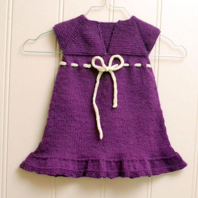baby-vestido-tejer-patrón libre | crochet | Pinterest | Patrones ...