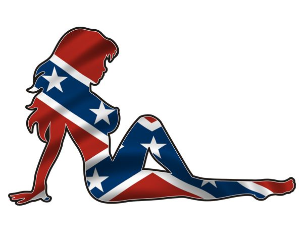 Rebel Mudflap Girl Decal Confederate Flag Southern Dixie Vinyl Car - Rebel flag truck decals   how to purchase and get a great value safely