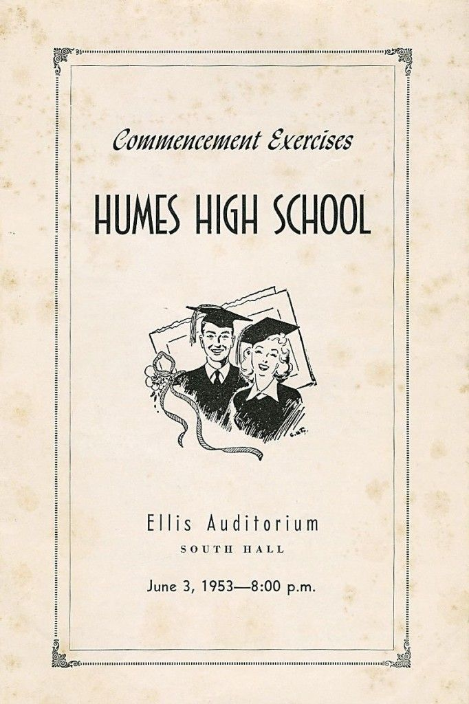 High School Graduation Program   Elvis High School
