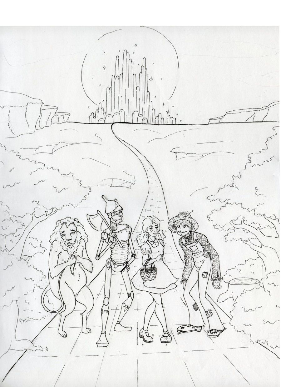 click to see printable version of wizard of oz munchkins - Wizard Of Oz Coloring Book