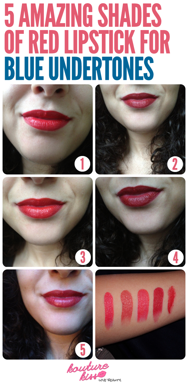 5 Amazing Shades of Red Lipstick for Blue Undertones
