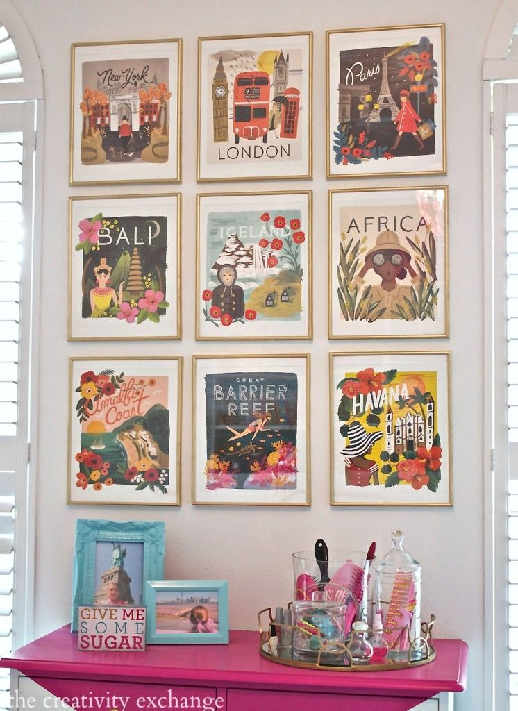 DIY Framed Calendar Prints Gallery wall Creativity and Walls