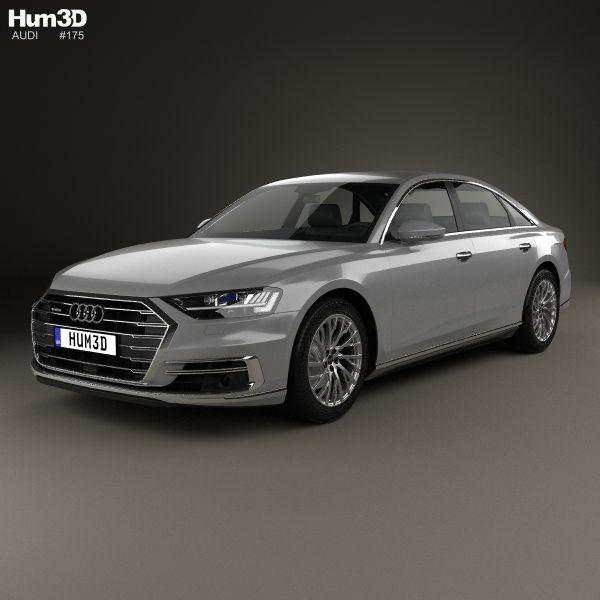 Audi A8 (D5) L 2018 3d Model From Hum3d.com.