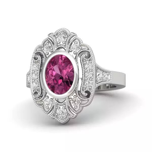 Gemvara Arya ring with pink and white sapphires